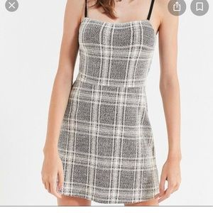 Urban Outfitters Plaid Black and White Dress